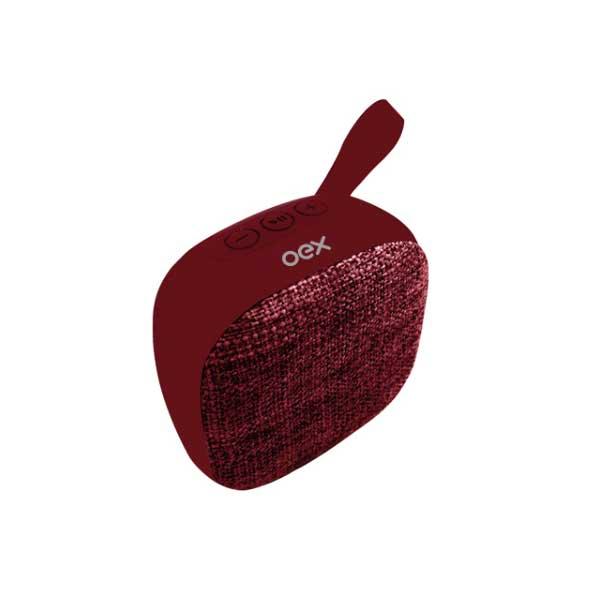 Caixa de Som Oex Speaker Wee 5W/RMS Vermelho SK413