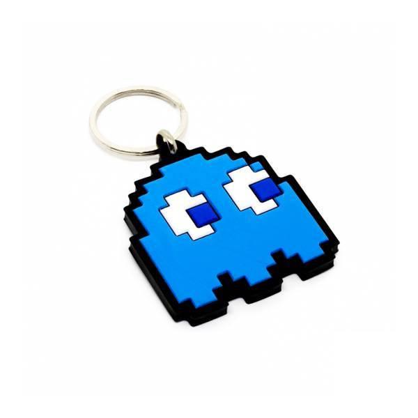 Kit com 5 chaveiros emborrachados Fantasma Kathavento Pac-Man Azul CHV1903PAC