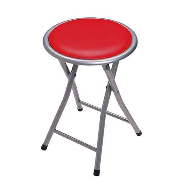 Banqueta Dobrável Circular Comfort Vermelho - Mor 002439