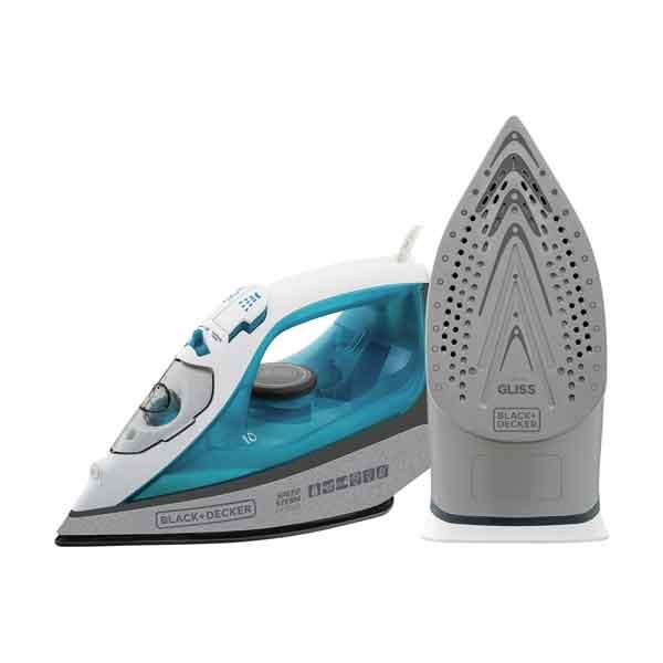 Ferro a Vapor Black & Decker Speed Team Ceramic Gliss 1200W Branco/Azul 110V...