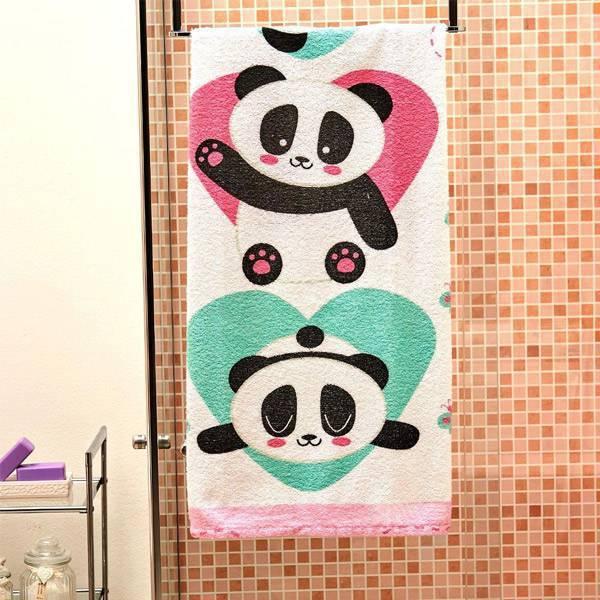 Toalha Felpuda de Banho Lepper Panda 060 x 1,10m 6141001