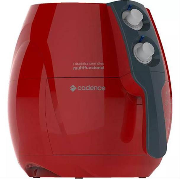 Fritadeira Elétrica Cadence Sem Óleo Perfect Fryer Colors 1250W Vermelha 110V...