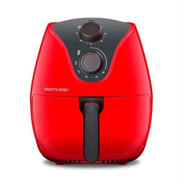 Fritadeira Elétrica Multilaser Air Fryer com Grade 1500W Vermelho 4L 110V CE083